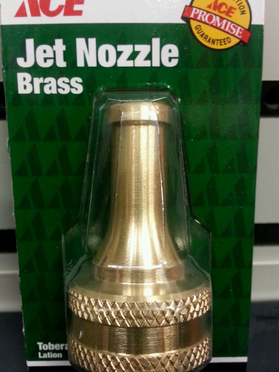 Solid Brass Sweeper Water Nozzle Yard Cleanup Jet Stream Hose Sprayer