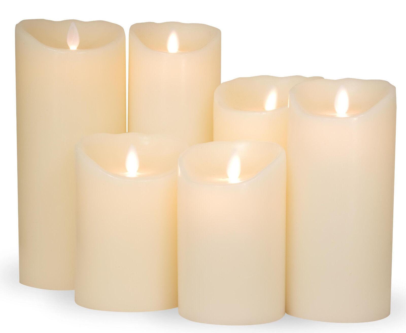 sompex flame 3er set led wax candle grey anthracite 5h timer candles ebay. Black Bedroom Furniture Sets. Home Design Ideas