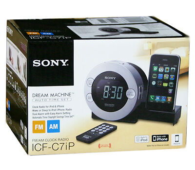 Sony ICF C7IP Dream Machine iPod Dock Alarm Clock Radio