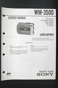 SONY-WM-3500-Walkman-Cassette-Player-Service-Manual-Schaltplan-Diagram-o81
