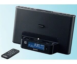 sony xdrds16ipn clock radio dock made for iphone 5 with dab fm xdr ds16ipn. Black Bedroom Furniture Sets. Home Design Ideas