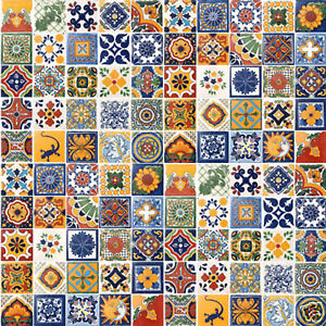 SPECIAL SALE 100 Mexican Tiles Ceramic Mexico EBay