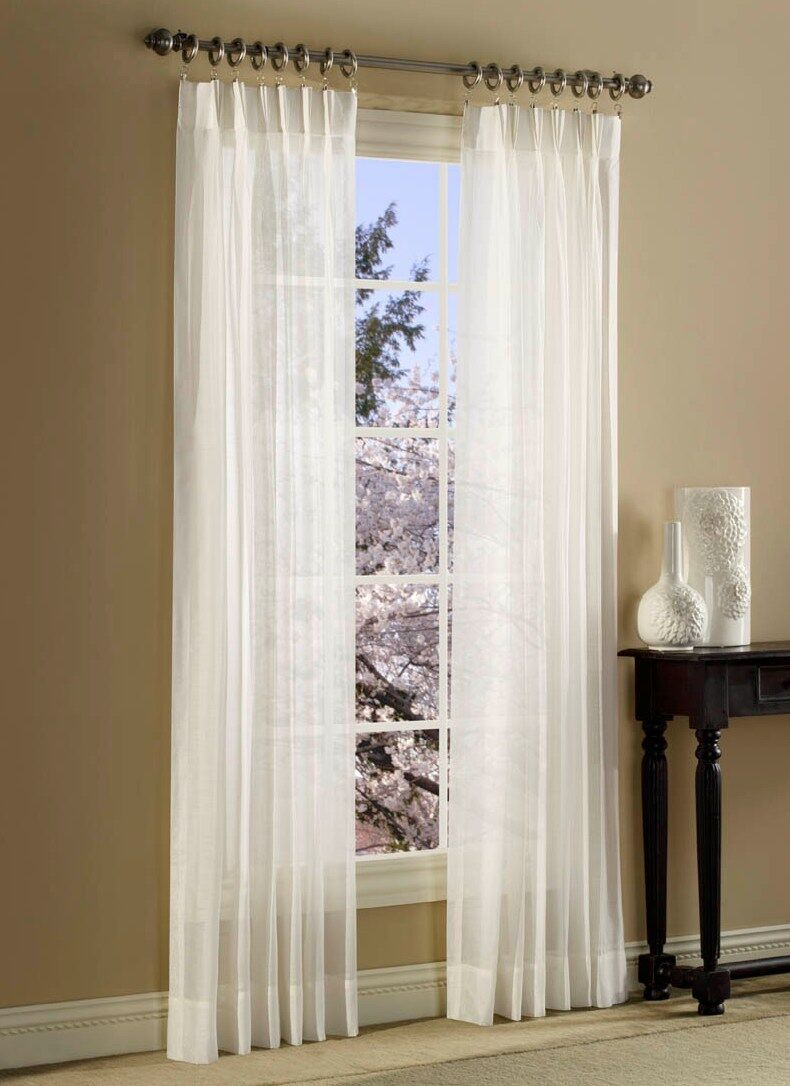 Pinch Pleated Sheer Curtains Curtains Blinds