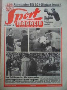 SPORT-MAGAZIN-KICKER-20-B-19-5-1955-Kaiserslautern-HSV-2-2-Offenbach-Essen-1-3