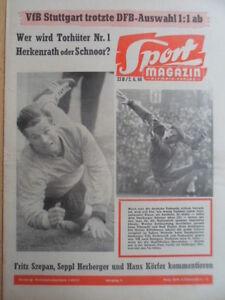 SPORT-MAGAZIN-KICKER-23-B-2-6-1960-Herkenrath-Schnoor-VfB-Stuttgart-DFB-1-1