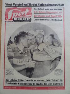 SPORT-MAGAZIN-KICKER-28-B-11-7-1957-Andre-Darrigade-Tour-de-France-Sachsen