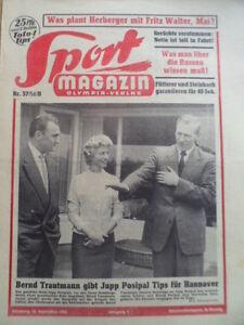 SPORT-MAGAZIN-KICKER-37B-13-9-1956-Jupp-Posipal-Vorschau-UdSSR-Heinz-Fuetterer