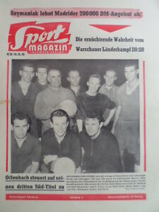 SPORT-MAGAZIN-KICKER-42-B-16-10-1958-Hans-Jakob-Offenbacher-Kickers-B-Scholz