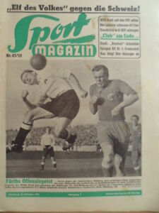 SPORT-MAGAZIN-KICKER-43-22-10-1952-Haefner-Sommerlatt-Fuerth-Muehlburg-3-0