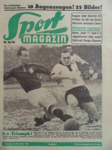 SPORT-MAGAZIN-KICKER-46-12-11-1952-Posipal-Huegi-Deutschland-Schweiz-5-1