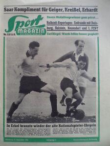 SPORT-MAGAZIN-KICKER-53A-31-12-1956-Suedwest-West-3-1-Saar-Sued-3-4-Carl-Riegel