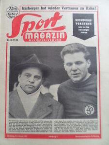 SPORT-MAGAZIN-KICKER-8-B-21-2-1957-Duisburger-SV-Harthaus-Koll-Eishockey