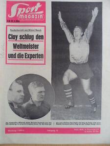 SPORT-MAGAZIN-KICKER-9-B-27-2-1964-Brungs-Cassius-Clay-Boxweltmeister-Liston