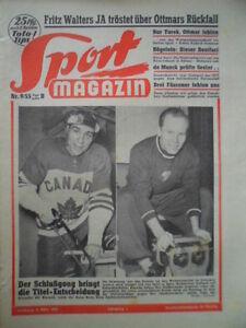 SPORT-MAGAZIN-KICKER-9B-3-3-1955-Eishockey-WM-Kanada-Russland-Holland-HSV-5-2