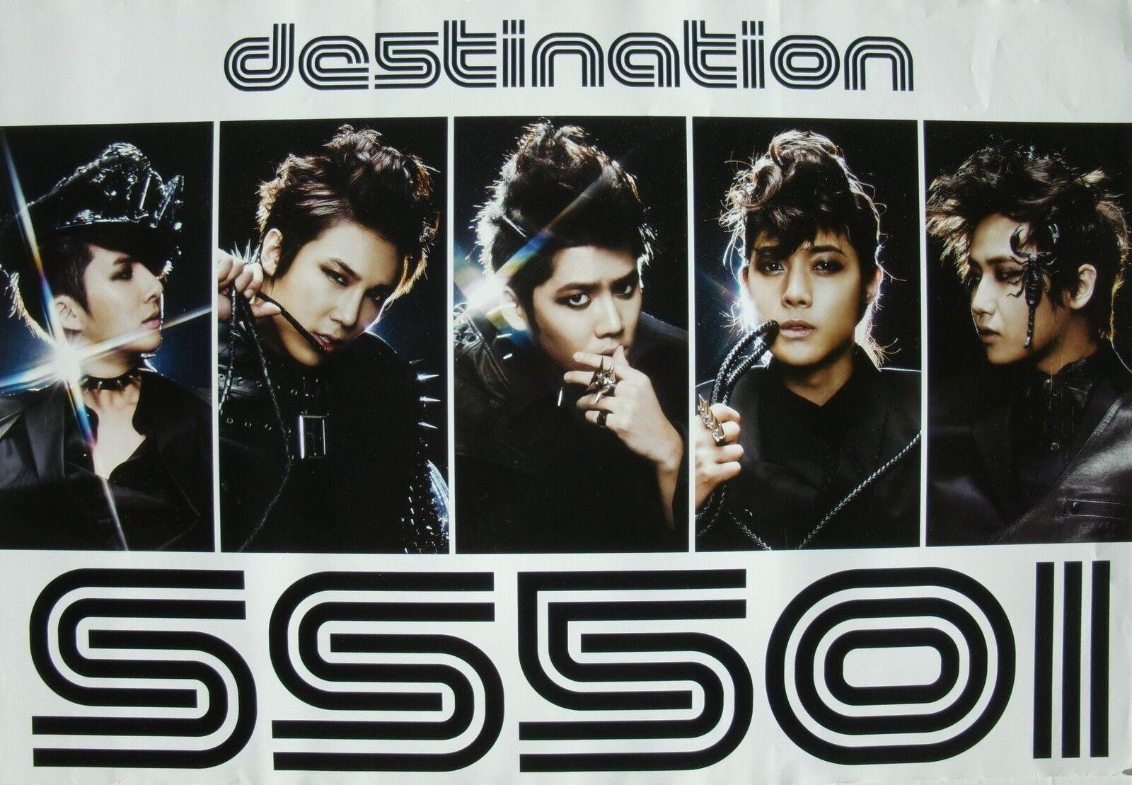 Asian Promo Poster Korean Boy Band Glammed Up K Pop Music