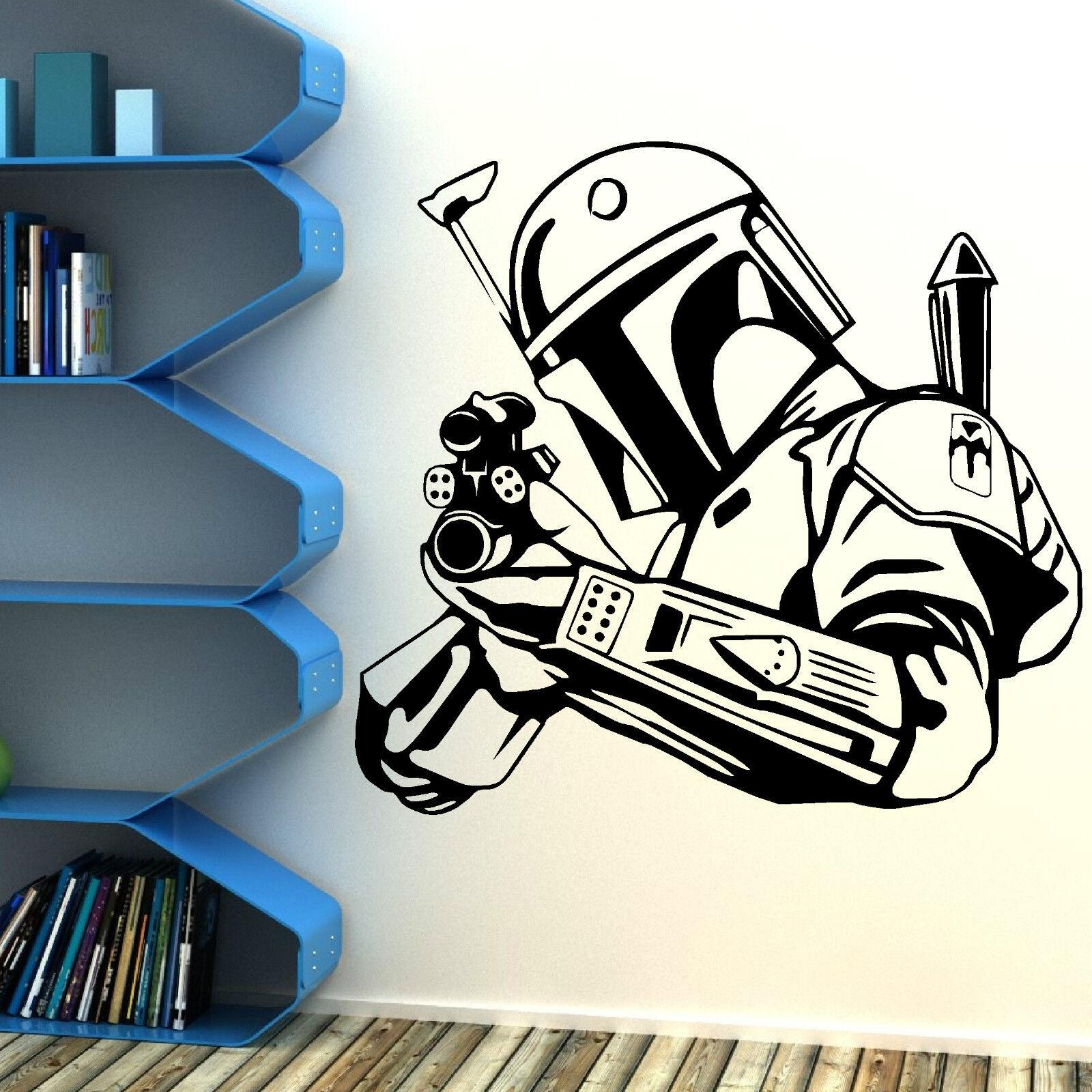 Star Wars Bobba Fett Bounty Hunter Vinyl Wall Art Sticker