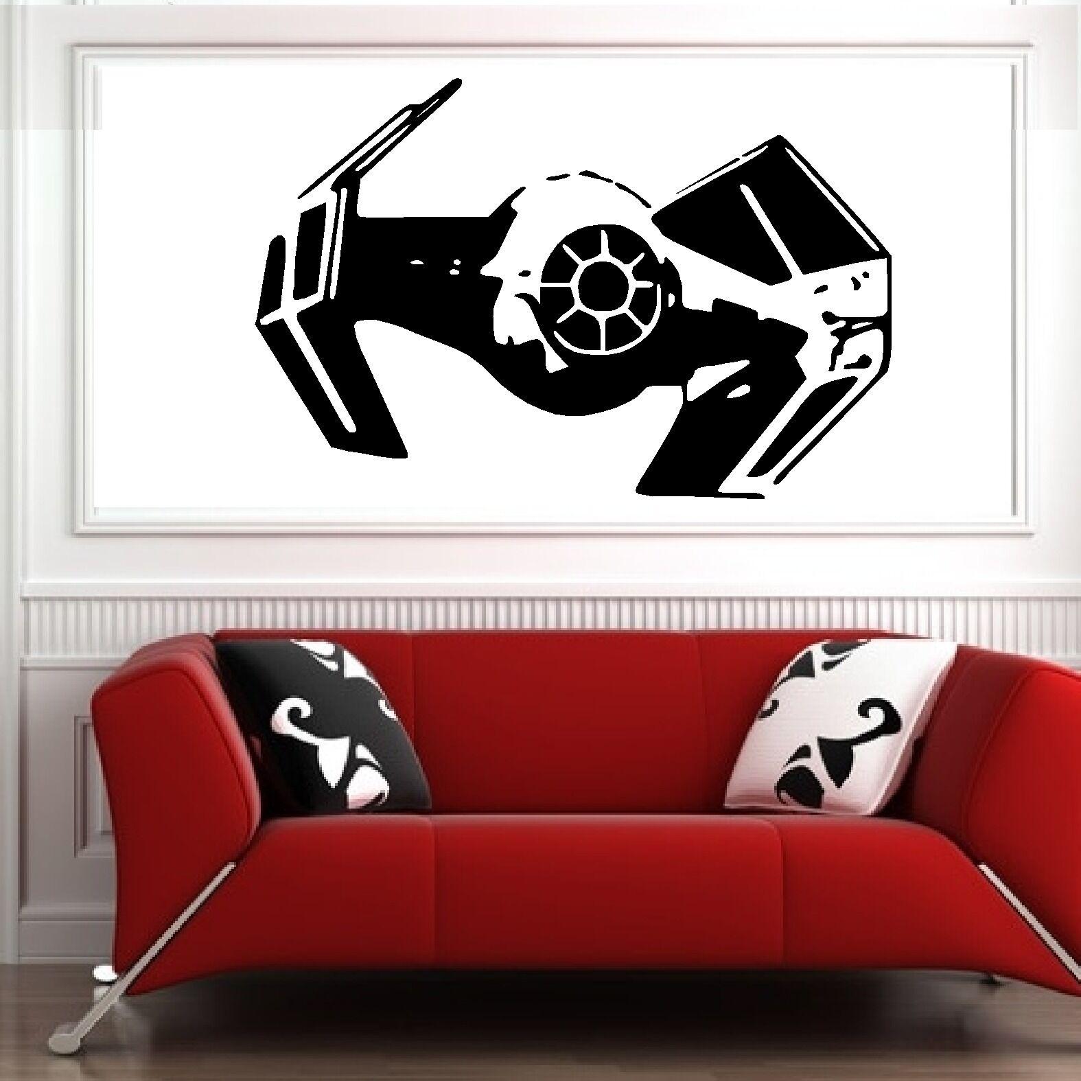 Star Wars Bedroom Accessories Star Wars Darth Vader Tie Fighter Vinyl Wall Art Sticker