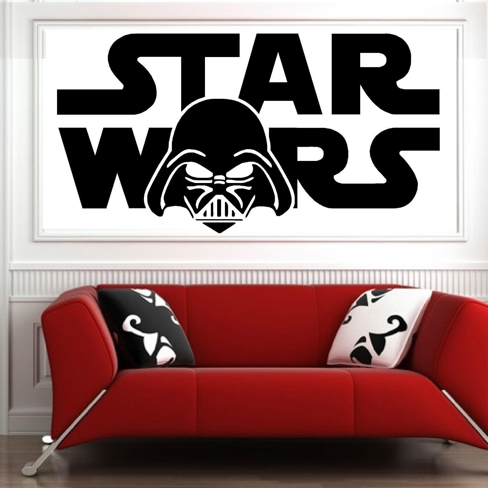 star wars, Wall Art sticker transfer bedroom,lounge,darth vader