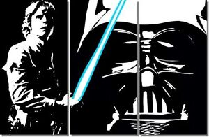 star wars pop art bild luke skywalker darth vader 150x100 cm leinwand handgemalt ebay. Black Bedroom Furniture Sets. Home Design Ideas