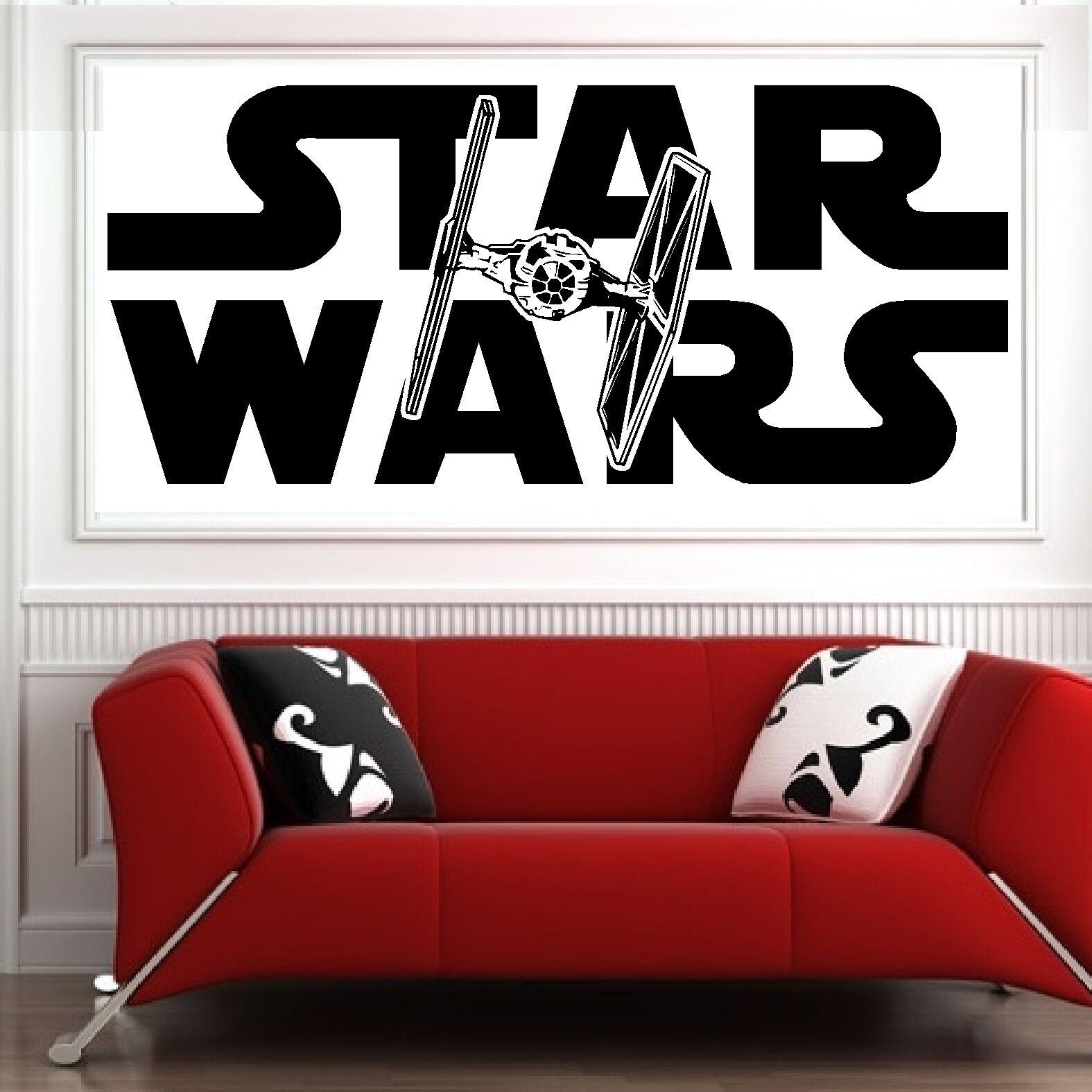 Star Wars Tie Fighter Vinyl Wall Art Sticker Decal Bedroom