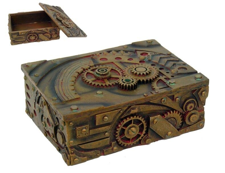 Steampunk machinery technology decorative 19th century for Vintage antique jewelry box