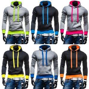 STEGOL-Herren-Pullover-Sweat-Hoodie-Sweatshirt-Kapuze-Pulli-Kapuzenpullover-Top