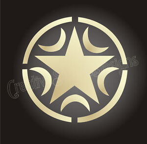 "Stencil 6"" Celtic Moon Star Shape Halloween Witch Signs | eBay"