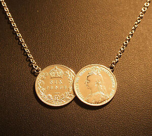 sterling silver coin pendant necklace 2 coin