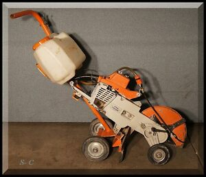 STIHL 510 Chainsaw http://www.ebay.com/itm/STIHL-TS510-AV-Concrete-Saw-Walk-Behind-TS-510AV-14-Guard-Cart-kit-/230978632657