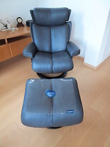 stressless sessel modell magic mit hocker ekornes ebay. Black Bedroom Furniture Sets. Home Design Ideas