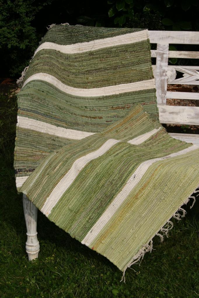 Stripe gr n flickenteppich 70x140 fleckerlteppich - Arbeitszimmer grun ...