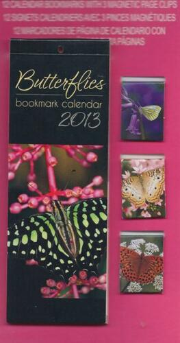 STUDIO 18 - 2013 BOOKMARK CALENDAR 12 Bookmrarks & 3 Magnetic Pg Clips BUTTERFLY in Books, Accessories, Bookmarks | eBay