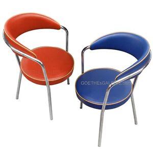 Stuhl stahlrohr american diner retro sessel gepolstert for Stuhl design 50er