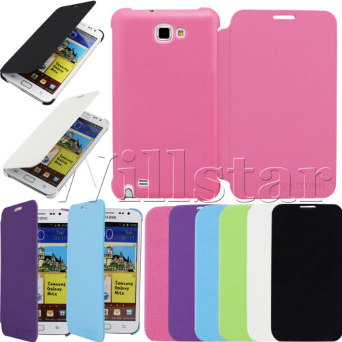 LEATHER FLIP CASE COVER FOR SAMSUNG GALAXY NOTE I9220 N7000 FREE FILM