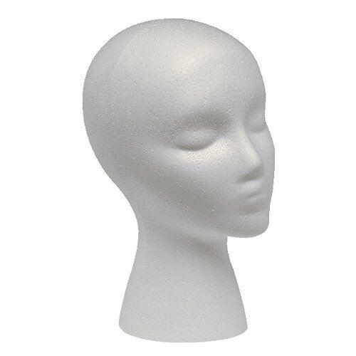 MANNEQUIN WIG HEAD DISPLAY HAT CAP WIG HOLDER WHITE FOAM HEAD