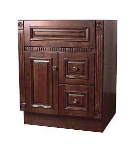 Sunco heritage cherry bathroom vanity cabinet 1 door 2 drawer 24 w 21 d ebay for 24 bathroom vanity with drawers