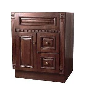 Sunco Heritage Cherry Bathroom Vanity Cabinet 1 Door 2