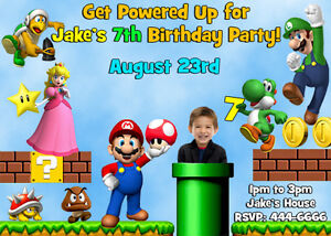 Mario Birthday Party Invitations with good invitations template