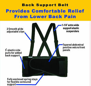 SUPPORT BELT BACK WAIST BRACE LIFT HEAVY WEIGHT S-4XL in Health & Beauty, Medical, Mobility & Disability, Braces & Supports | eBay