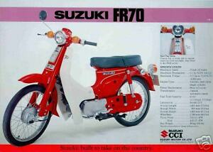 Suzuki brochure fr50 fr70 1973 scooter sales catalog ebay - Www simplymarket fr catalogue ...