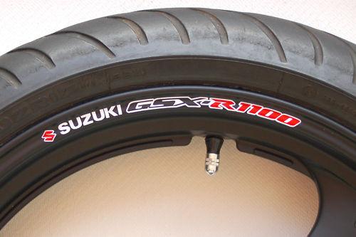 Suzuki GSXR 1100 Wheel Rim Stickers Decals GSXR1100 R