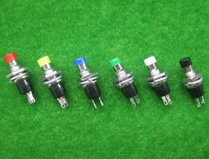 SW16-NEU-18-Stk-Miniatur-Taster-Mini-Taster-fuer-Modellbau-Schalter-Sechs-Farben