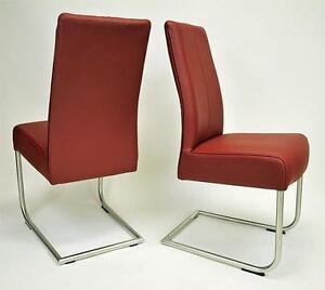 swing l freischwinger lederst hle st hle 2 er set in edelstahl und echtleder ebay. Black Bedroom Furniture Sets. Home Design Ideas
