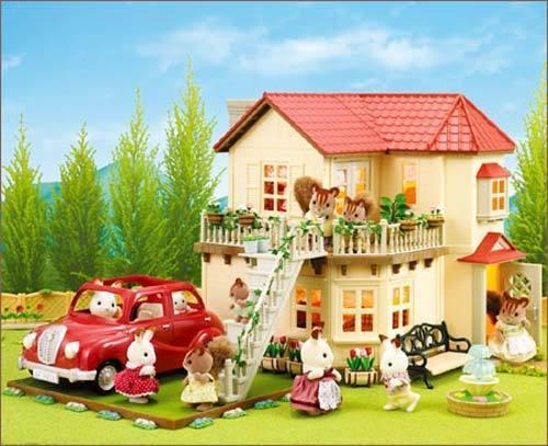 sylvanian families jp v 01 family red car calico critters. Black Bedroom Furniture Sets. Home Design Ideas