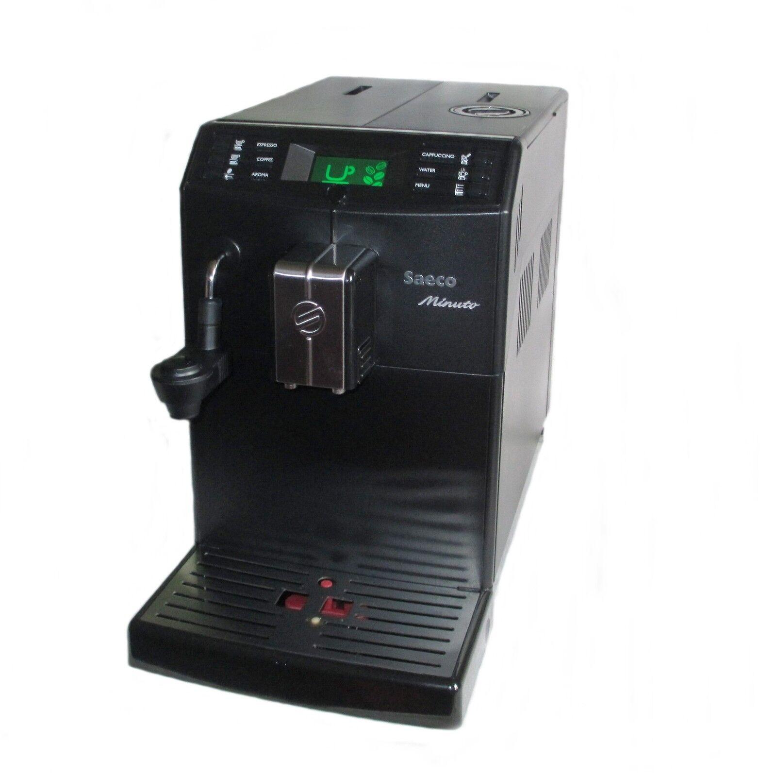 saeco minuto hd8762 schwarz kaffeevollautomat milchaufsch umer ebay. Black Bedroom Furniture Sets. Home Design Ideas