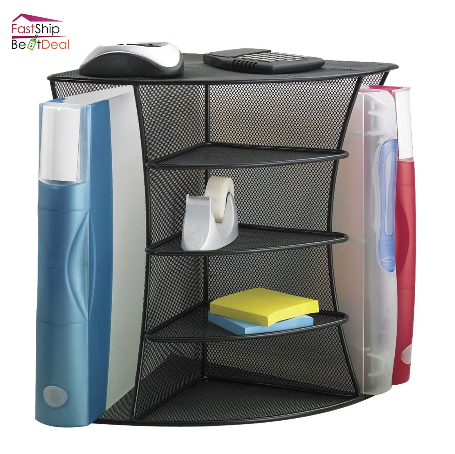 Safco Desk Organizer File Folders Storage Shelve Holder