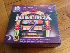Sale-KARAOKE-JukeBox-2-box-set-of-5-CD-G-discs-RRP-24-99-Ideal-for-Christmas