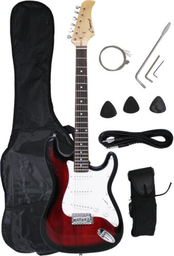 ~Sale New Crescent REDBURST Electric Guitar+Strap+Gigbag+WARRANTY in Musical Instruments & Gear, Guitar, Electric | eBay