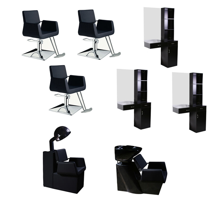 Salon Package Styling Station Styling Chair Shampoo Station Hair Dryer Chair