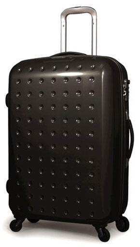 Pixelcube 30 Zippered Spinner Upright Wheels Rolling Suitcase Luggage